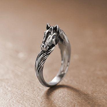 Decorations handmade. Livemaster - original item Horse, silver ring. Handmade.