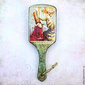 Сувениры и подарки ручной работы. Ярмарка Мастеров - ручная работа Большая деревянная расческа  Венецианский  карнавал. Handmade.