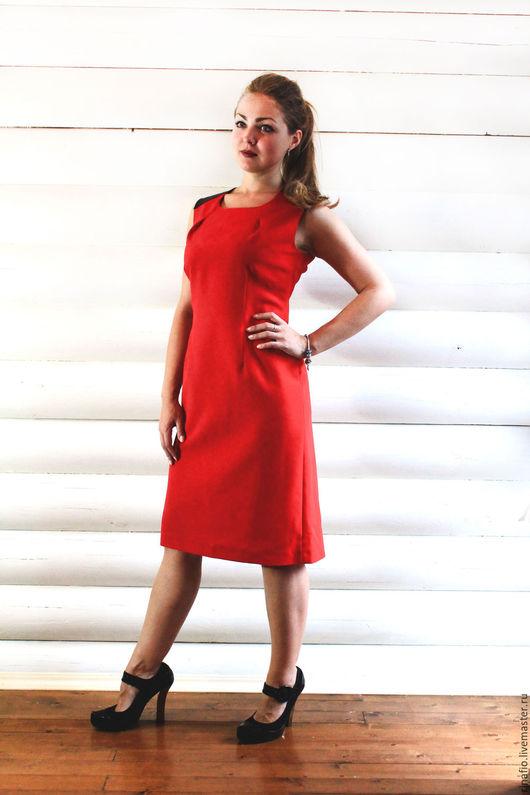 Платья ручной работы. Ярмарка Мастеров - ручная работа. Купить Платье футляр. Handmade. Ярко-красный, Платье нарядное