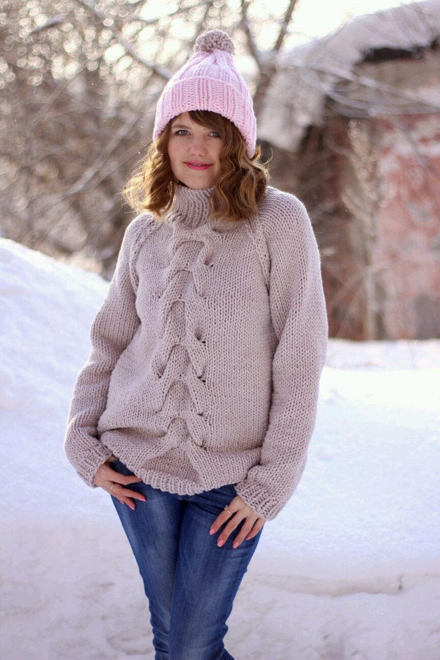 Кофты и свитера ручной работы. Ярмарка Мастеров - ручная работа. Купить Объемный свитер. Handmade. Розовый, объемный свитер