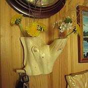 Для дома и интерьера handmade. Livemaster - original item wall-mounted planter for dried flowers from a juniper. Handmade.
