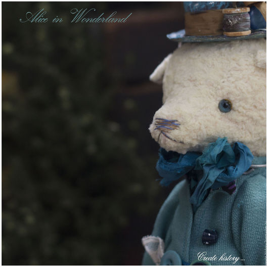 """Мишки Тедди ручной работы. Ярмарка Мастеров - ручная работа. Купить Шляпник. Коллекция """"Алиса в стране чудес"""".. Handmade."""