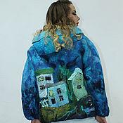 Одежда handmade. Livemaster - original item felted jacket Evening city. Handmade.