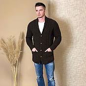 Мужская одежда handmade. Livemaster - original item Cardigan jacket for men. Handmade.
