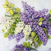 Картины и панно handmade. Livemaster - original item Pattern ribbon lilac ( repeat). Handmade.