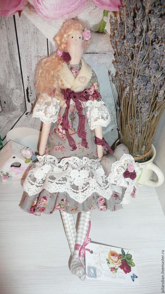 Куклы Тильды ручной работы. Ярмарка Мастеров - ручная работа. Купить Интерьерная кукла Полина!!. Handmade. Серый, кукла Тильда