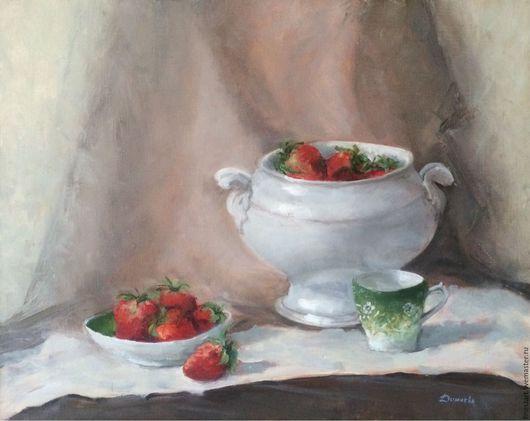 Картина маслом Натюрморт с ягодами Купить картину маслом Холст на подрамнике Купить картину в подарок Картина маслом натюрморт