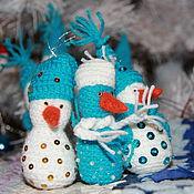 Мягкие игрушки ручной работы. Ярмарка Мастеров - ручная работа Снеговики, вязание крючком. Handmade.