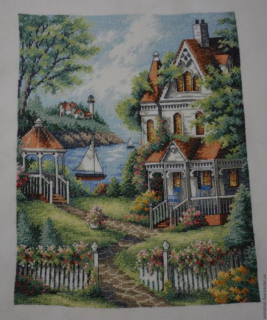 Пейзаж ручной работы. Ярмарка Мастеров - ручная работа. Купить Вышивка крестом Райское место ( Cove Haven Inn ). Handmade.