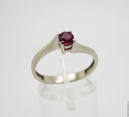 Кольца ручной работы. Ярмарка Мастеров - ручная работа. Купить Золотое кольцо с круглым Рубином.. Handmade. Кольцо, рубин