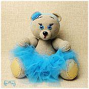 Куклы и игрушки handmade. Livemaster - original item Soft toys: blue-eyed Dasha-knitted toy. Handmade.