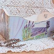 """Для дома и интерьера ручной работы. Ярмарка Мастеров - ручная работа Короб хлебница """"Над лавандовыми полями"""". Handmade."""
