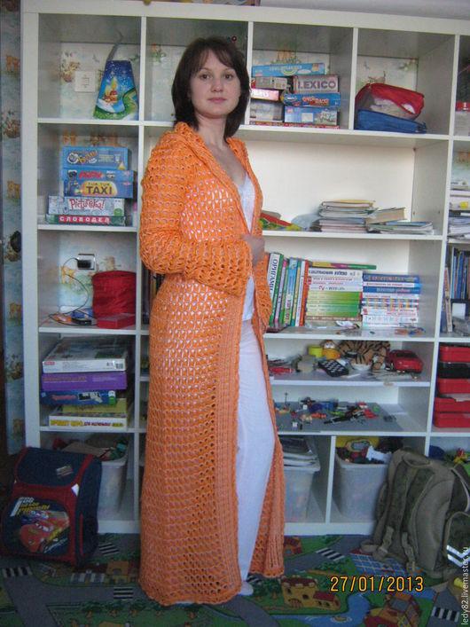 Верхняя одежда ручной работы. Ярмарка Мастеров - ручная работа. Купить Оранжевое лето. Handmade. Оранжевый, летнее пальто