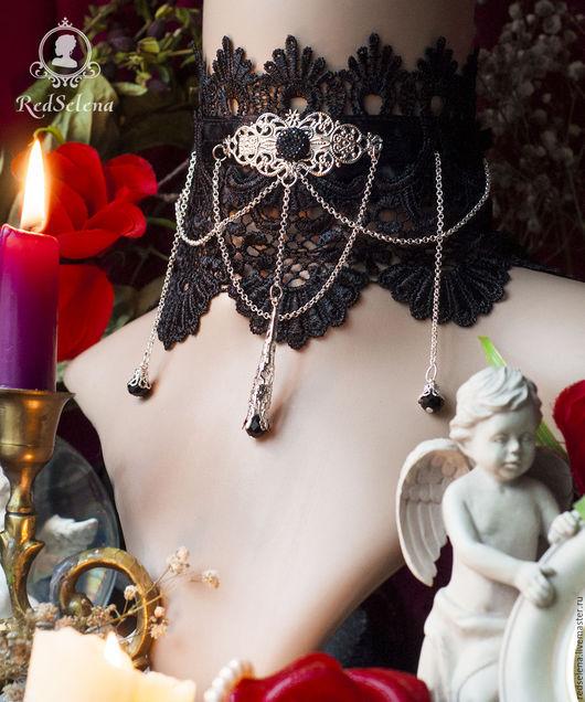 """Готика ручной работы. Ярмарка Мастеров - ручная работа. Купить Кружевной комплект в викторианском стиле """"Vanessa"""". Handmade. Черный"""