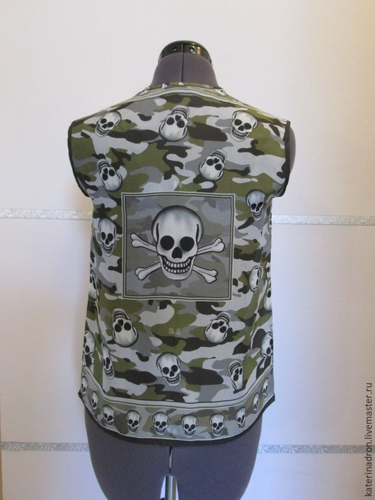 Блузки ручной работы. Ярмарка Мастеров - ручная работа. Купить Шелковая блузка с черепами. Handmade. Серый, шелк