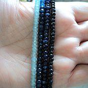Материалы для творчества handmade. Livemaster - original item The tinted quartz faceted rondelle 4mm, 4 colors 18cm strand. Handmade.