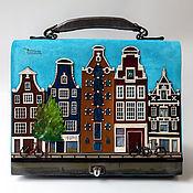 """Сумки и аксессуары ручной работы. Ярмарка Мастеров - ручная работа Кожаная сумка """"Амстердам"""". Handmade."""