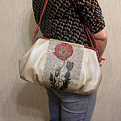 Сумки и аксессуары ручной работы. Ярмарка Мастеров - ручная работа сумка-клатч на саквояжной рамке из кожи. Handmade.