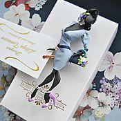 """Украшения ручной работы. Ярмарка Мастеров - ручная работа комплект: брошь"""" Надежда"""",платок. Handmade."""