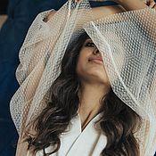 Халаты ручной работы. Ярмарка Мастеров - ручная работа Халатик невесты с прозрачными рукавами для утренней фотосессии. Handmade.