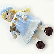 Куклы и игрушки ручной работы. Ярмарка Мастеров - ручная работа Кукла. Вязаная кукла Сашенька. Handmade.