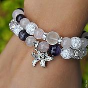 Украшения handmade. Livemaster - original item Bracelets made of quartz and amethyst