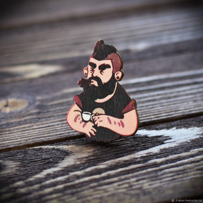 Wooden icon Parodist, Badge, Volzhsky,  Фото №1