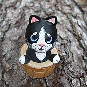 Куклы и игрушки handmade. Livemaster - original item kitten in a basket. Handmade.