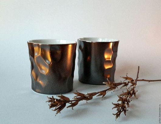 """Бокалы, стаканы ручной работы. Ярмарка Мастеров - ручная работа. Купить Стакан """"Рассвет в Бухаресте"""". Handmade. Медь, золото, бронза"""