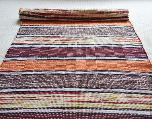 Текстиль, ковры ручной работы. Ярмарка Мастеров - ручная работа. Купить Половик ручного ткачества (№ 130). Handmade. Бордовый