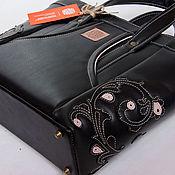 """Сумки и аксессуары ручной работы. Ярмарка Мастеров - ручная работа Кожаная женская сумка """"Ivy.Black"""" черная большая из натуральной кожи. Handmade."""