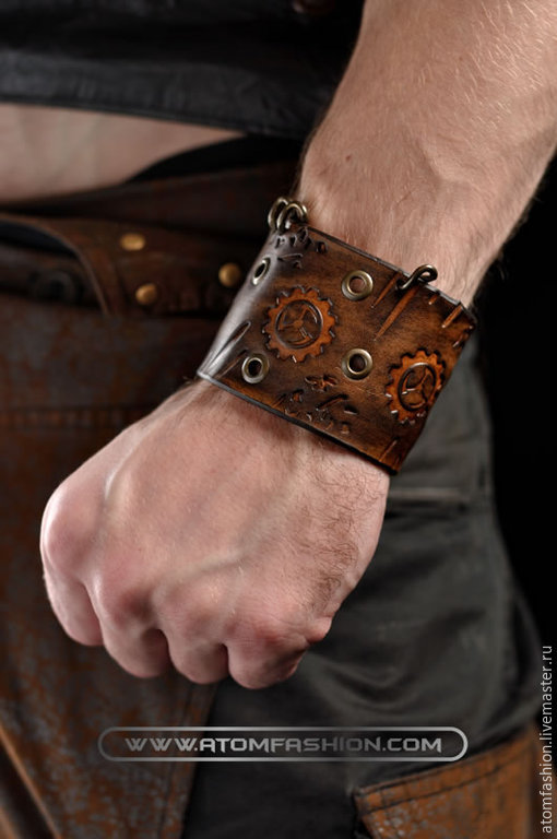 браслет кожаный рейдер купить в интернет магазине на ярмарке