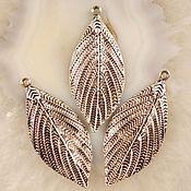 Материалы для творчества handmade. Livemaster - original item pendant for jewelry.Silver sheet.51x22x4mm. Handmade.