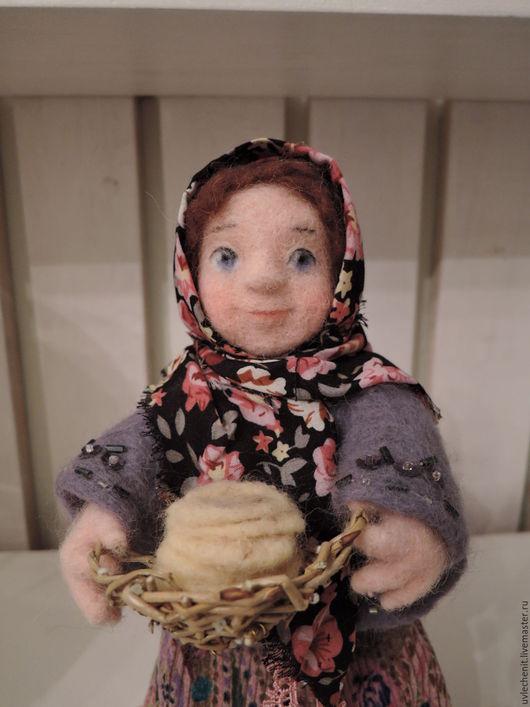 """Коллекционные куклы ручной работы. Ярмарка Мастеров - ручная работа. Купить валяная кукла серия """"Праздники"""" Масленица. Handmade. Комбинированный"""