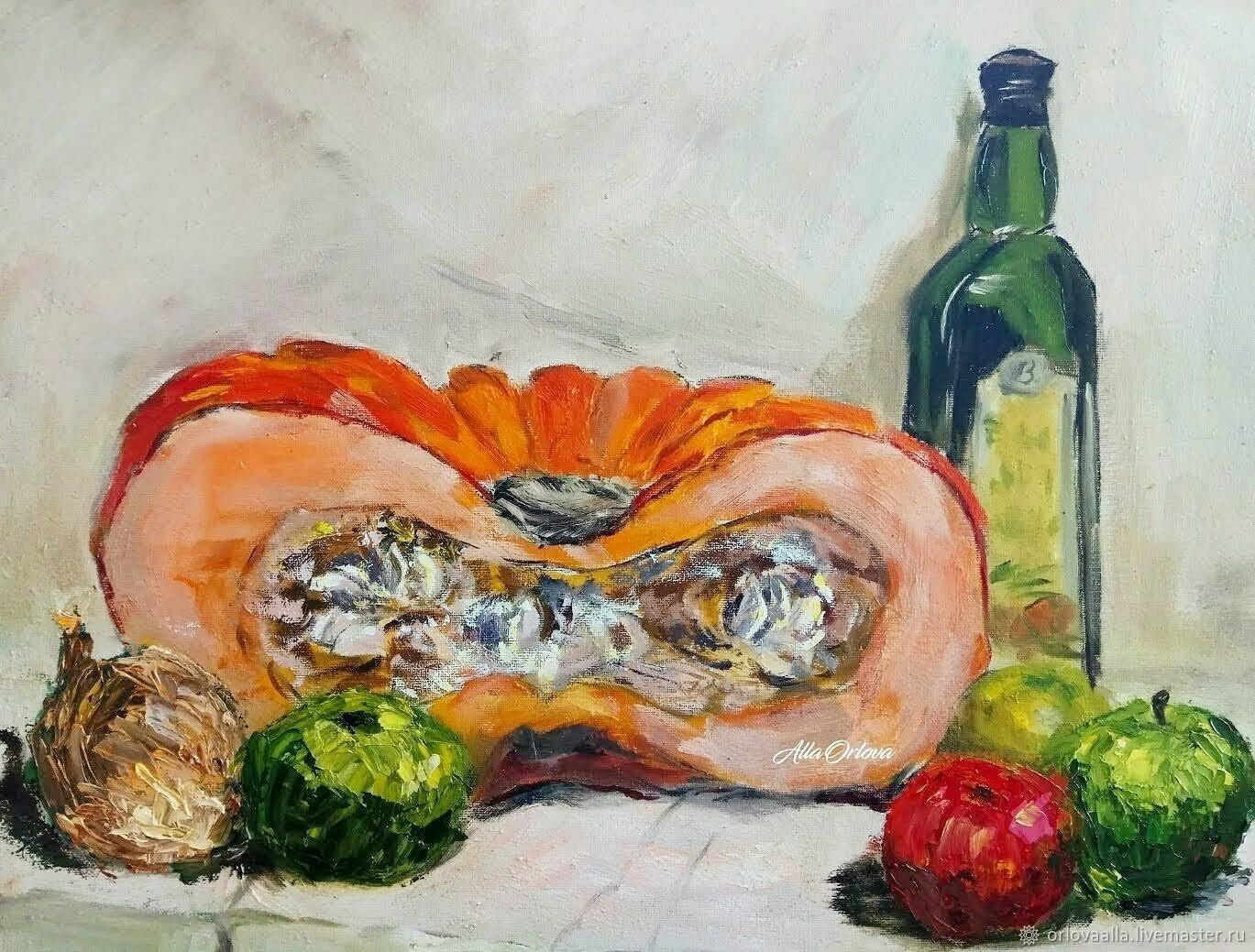 Painting still life with pumpkin, Pictures, Moscow,  Фото №1