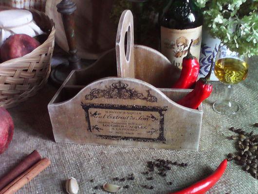 Полки для специй ручной работы. Ярмарка Мастеров - ручная работа. Купить Короб для специй ,,От Парижа до Прованса,,. Handmade. Короб