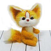 Куклы и игрушки ручной работы. Ярмарка Мастеров - ручная работа Лисичка Апельсинчик Интерьерная игрушка из шерсти. Handmade.