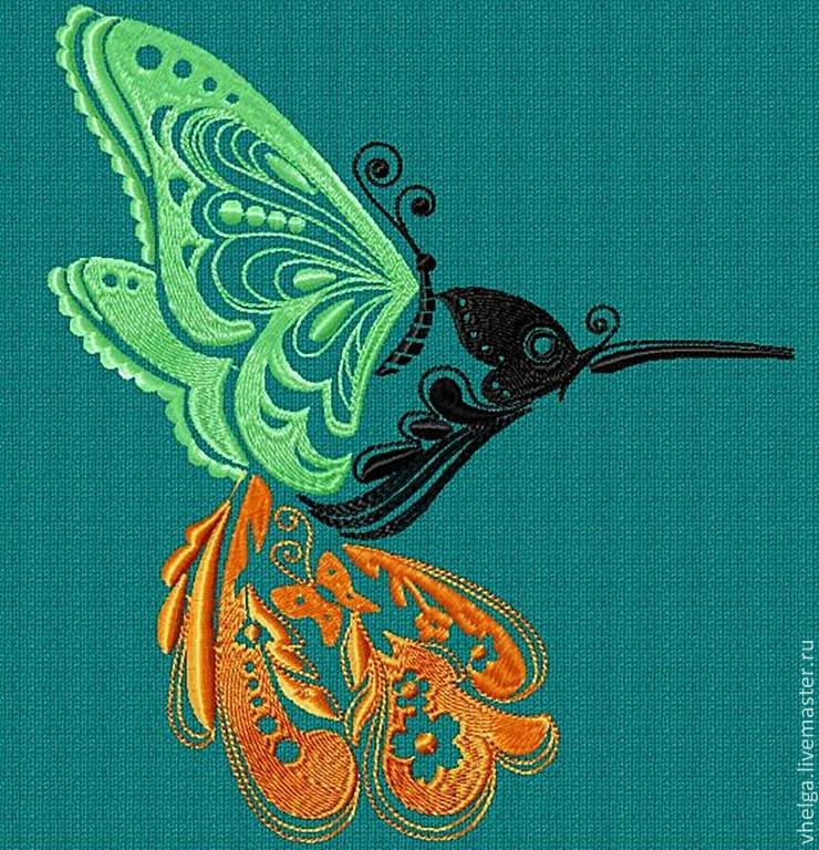 Дизайн бабочки вышивка
