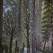 """Для дома и интерьера ручной работы. Ярмарка Мастеров - ручная работа Штора вязаная """"Сказочный лес"""". Филейное вязание. Бежевый.. Handmade."""