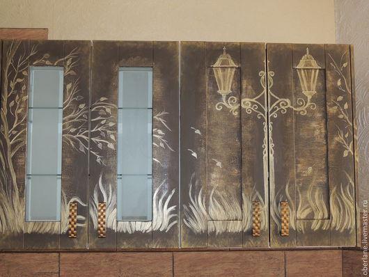 Мебель ручной работы. Ярмарка Мастеров - ручная работа. Купить декор и роспись кухонной мебели. Handmade. Коричневый, декор интерьера