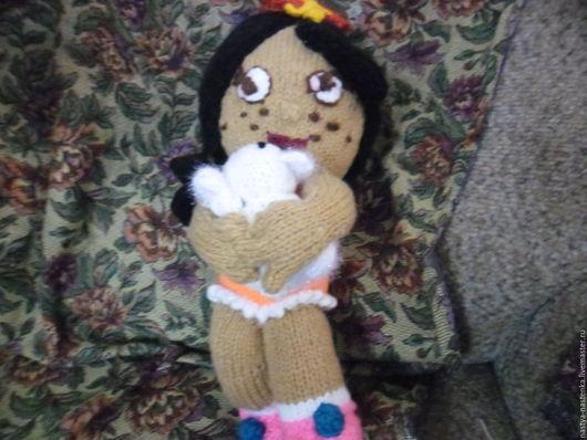 Человечки ручной работы. Ярмарка Мастеров - ручная работа. Купить кукла милашка. Handmade. Белый, полушерсть