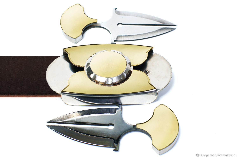 """Ремень с ножами. Модель """" Чистая Латунь"""", Ремни, Белгород,  Фото №1"""