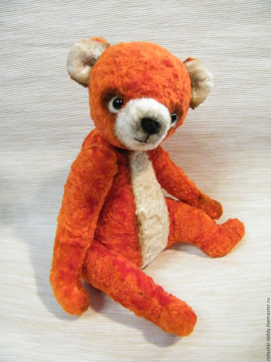 Мишки Тедди ручной работы. Ярмарка Мастеров - ручная работа. Купить мишка тедди (опилки). Handmade. Оранжевый, медвежонок