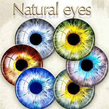 Дизайн и реклама ручной работы. Ярмарка Мастеров - ручная работа Глаза натуральные для игрушек. Кукольные глаза. Распечатка глазок. Handmade.