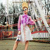 Одежда handmade. Livemaster - original item Felted skirt with straps. Handmade.