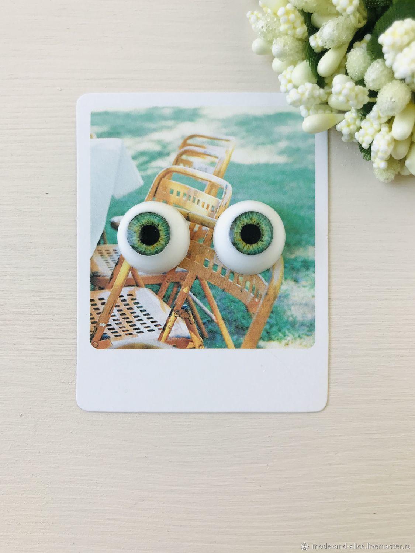 Eyes for dolls 16 mm (iris 8,5 mm), Eyes and eyelashes, Solnechnogorsk,  Фото №1