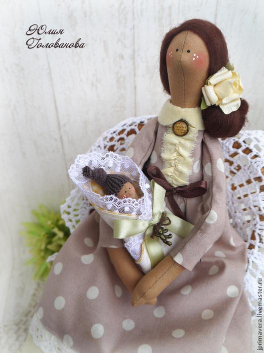 ангел материнства, ангел тильда, кукла тильда, тильда кукла, тильда ангел, подарок молодой маме, подарок на рождение, Юлия Голованова, Ярмарка мастеров