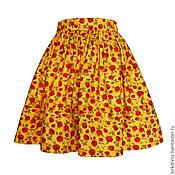 Одежда ручной работы. Ярмарка Мастеров - ручная работа Юбка Red Queen 45 см с карманами. Handmade.