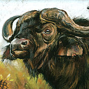 Картины и панно handmade. Livemaster - original item Pictures: Buffalo (Bull). Handmade.