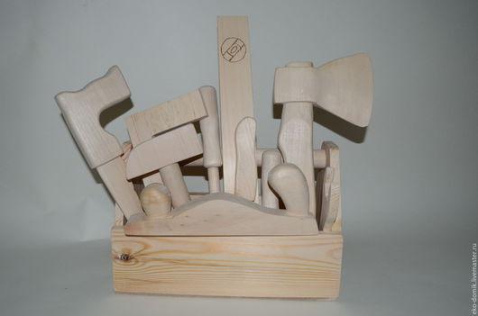 Развивающие игрушки ручной работы. Ярмарка Мастеров - ручная работа. Купить Деревянный набор детских инструментов. Handmade. Бежевый